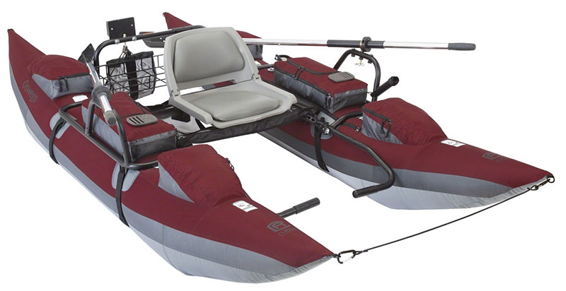 Classic Accessories Oswego Inflatable Pontoon Boat With Motor Mount