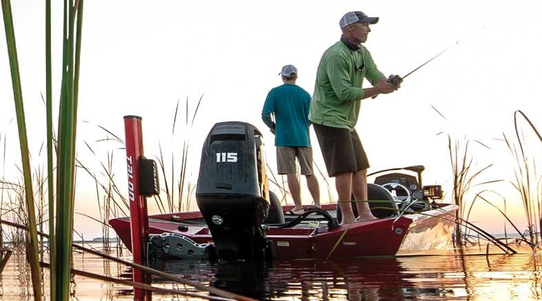 fishing with humminbird HELIX 5 SI GPS fishfinder